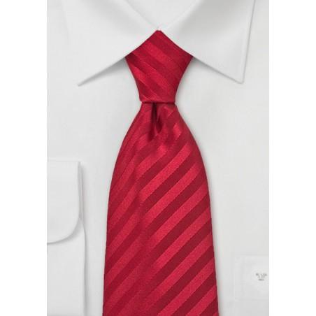 Bright Ruby Red Silk Tie