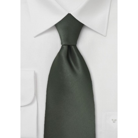 Dark Green Mens Necktie
