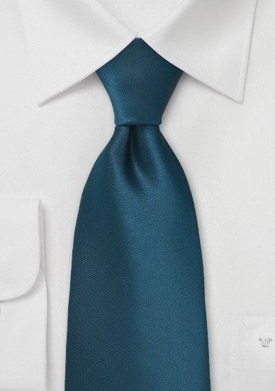 Dark Teal Blue Necktie