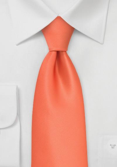 Bright Coral Orange Kids Tie