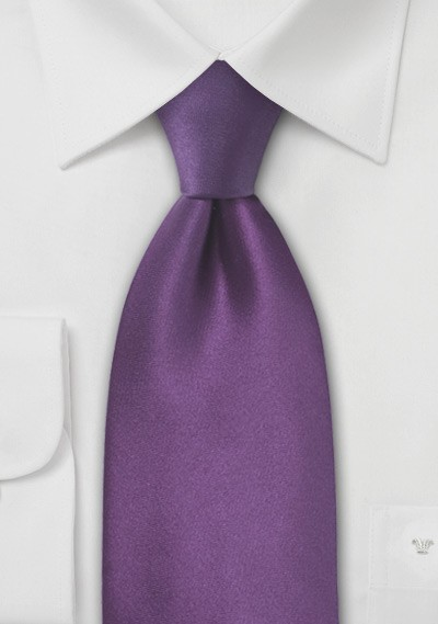 XL Violet Purple Silk Tie