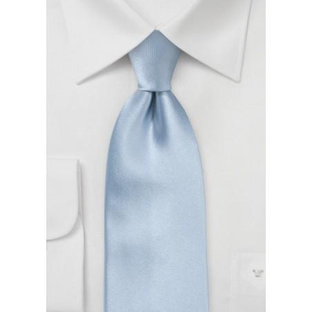 Light Blue Silk Tie in Kids Length