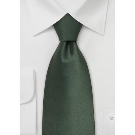 Dark Green Kids Silk Tie
