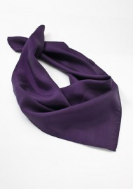 Purple Silk Womens Scarf