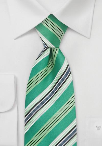 Kelly Green Striped Tie