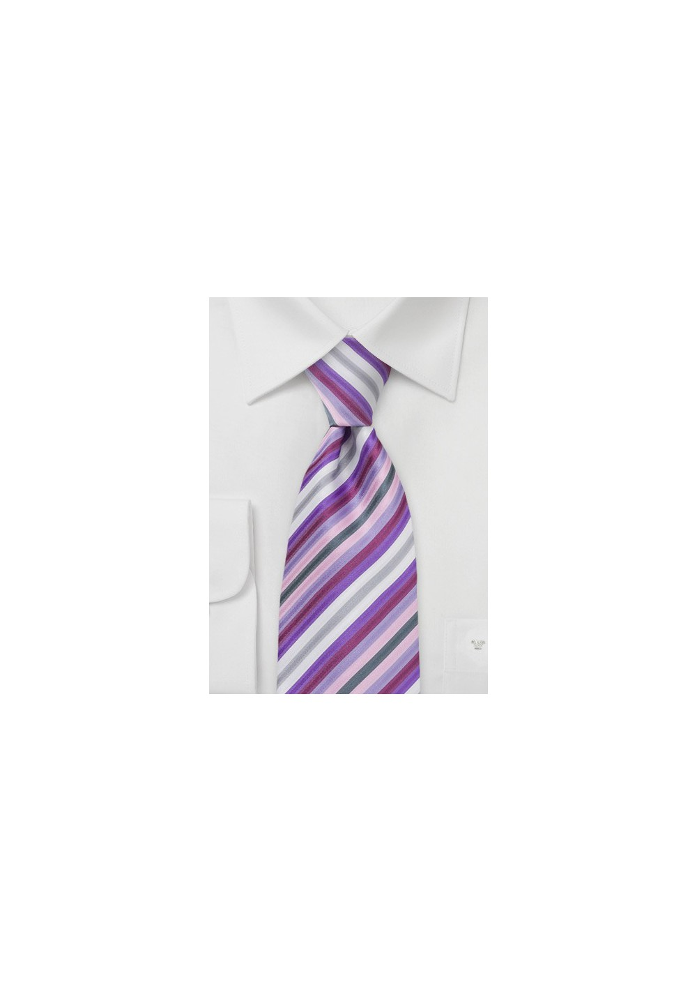 Lavender Purple Striped Tie