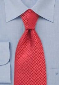 Red Silk Designer Tie