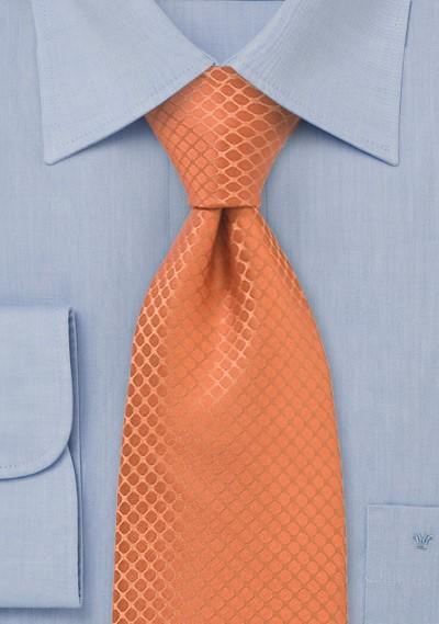 Trendy Orange Silk Tie