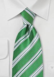 Shamrock Green Striped Tie