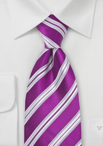 Bright Purple Silk Tie