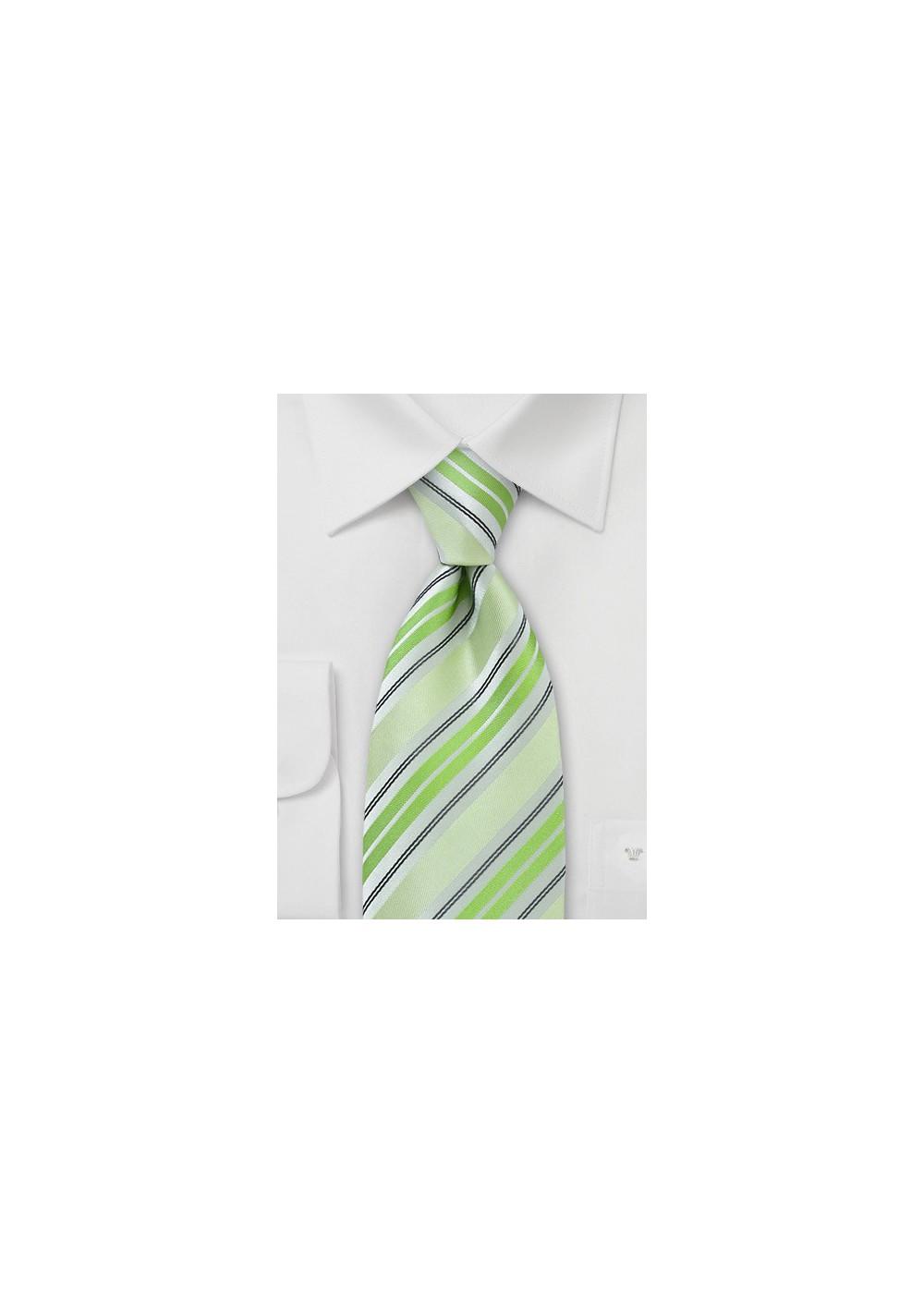 Pastel Green Striped Tie