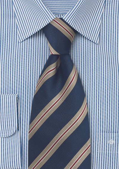 Midnight Blue Regimental Tie