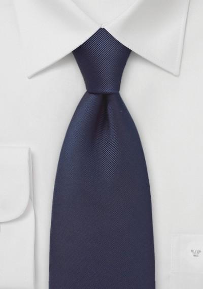 Solid Midnight Blue Silk Tie