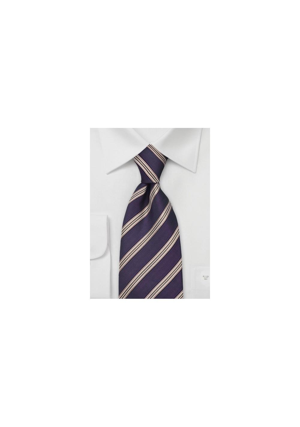Dark Eggplant Purple Silk Tie