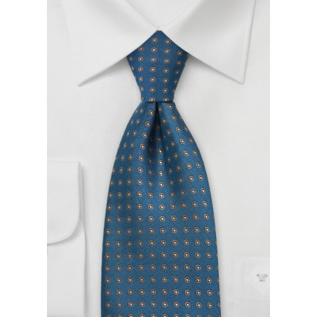 Teal and Brown Polka Dot Tie
