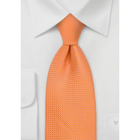 Apricot Orange Silk Tie