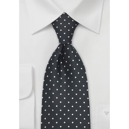Black Polka Dot Tie