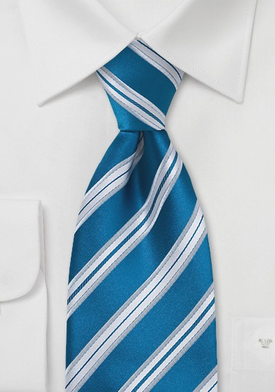 Bright Teal Blue Kids Tie