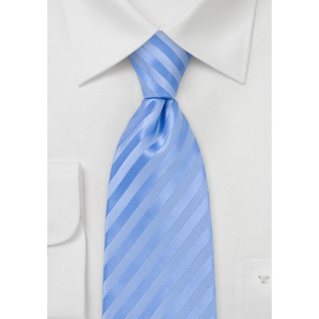 Tonal Light Blue Striped Tie