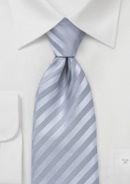Metallic Silver Striped Tie