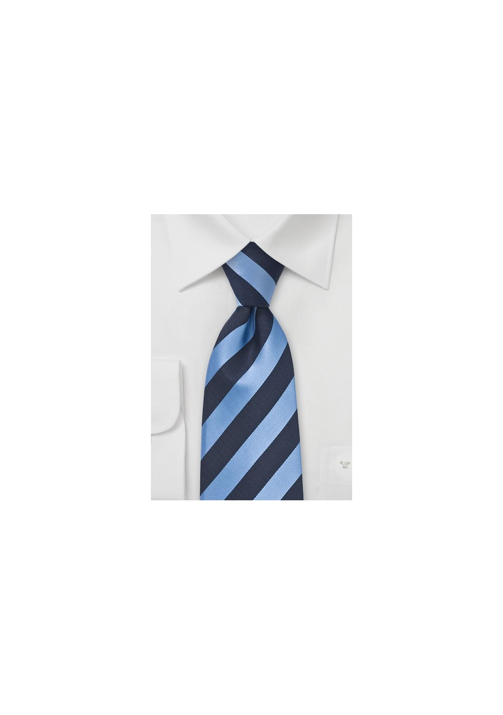 Navy Blue and Light Blue Tie