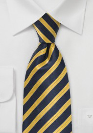 Regimental Yellow and Navy Tie