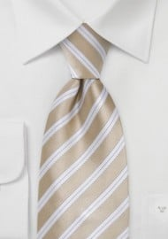 Sweet Almond Striped Tie