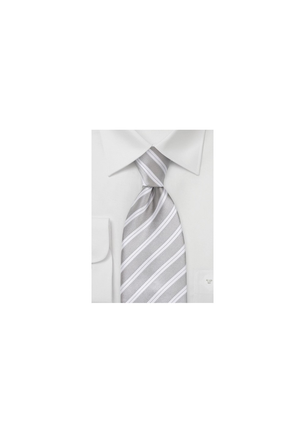 Light Silver and Ivory Tie