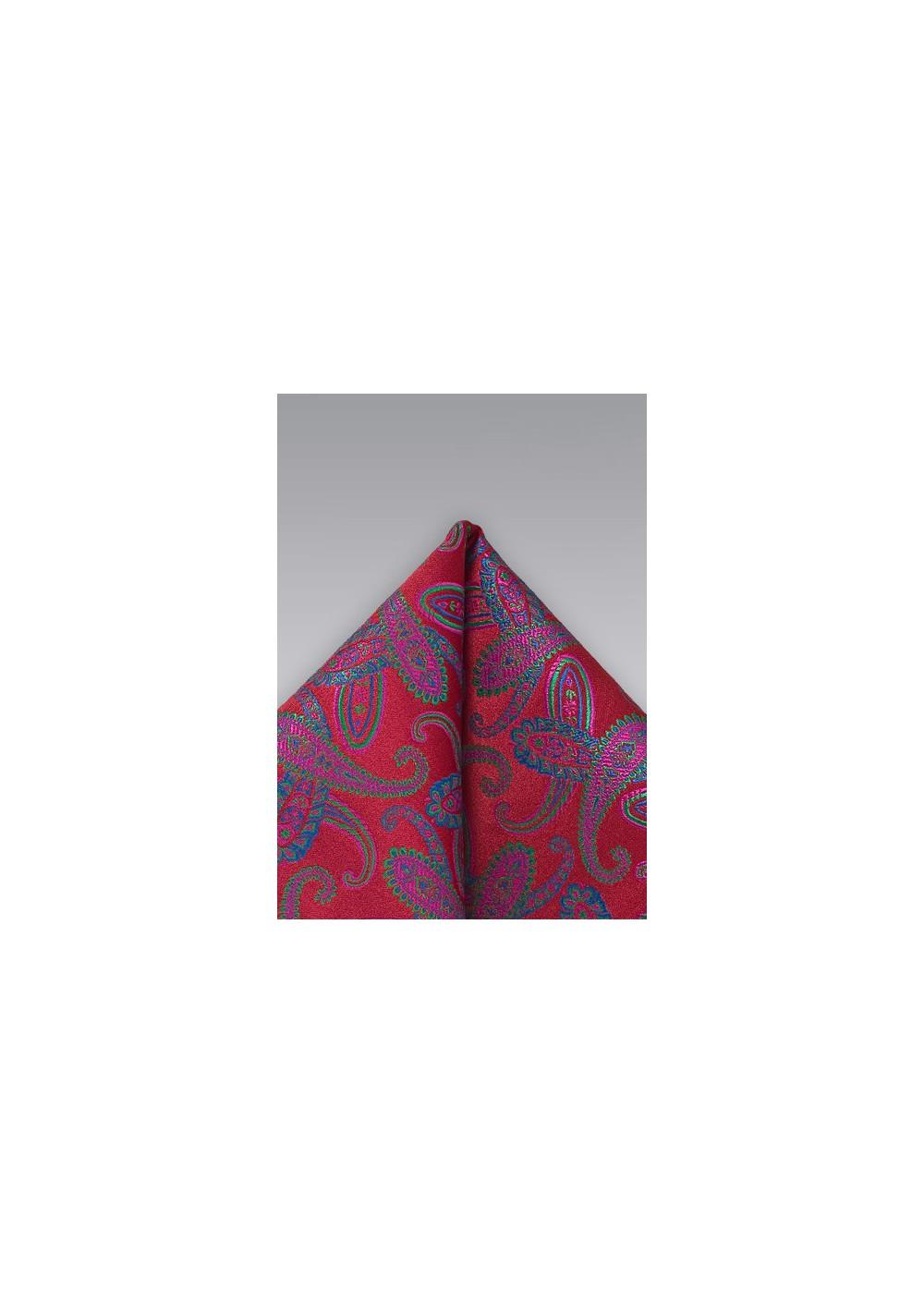 Paisley Red Handkerchief