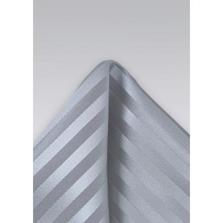 Tonal Silver Pocket Square