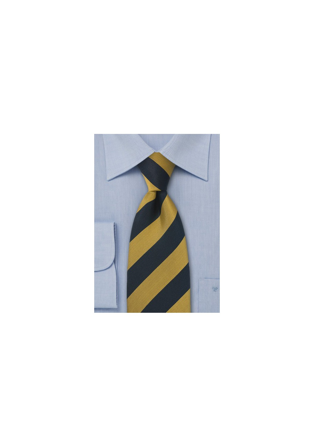 Traditional British Regimental Tie in Navy and Gold