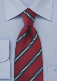 Regimental Tie in Red and Navy Blue