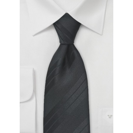 Textured Black Striped Tie