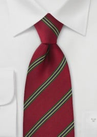 Regimental Tie in Vivid Red
