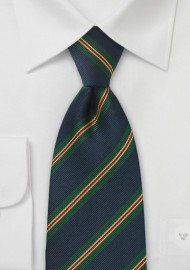 British Repp Tie in Dark Navy