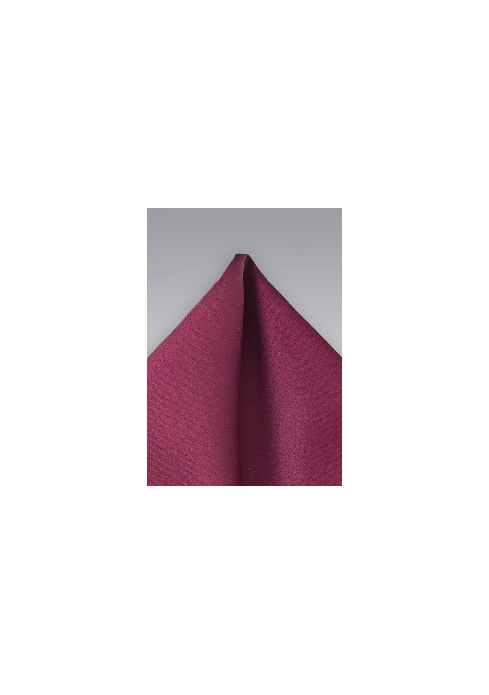Solid Burgundy Pocket Square