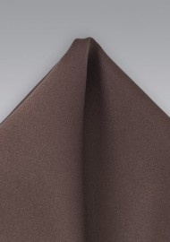 Solid Coffee Brown Pocket Square