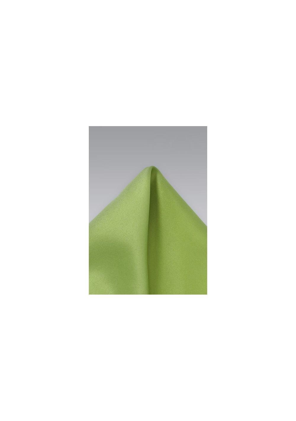 Apple Green Pocket Square