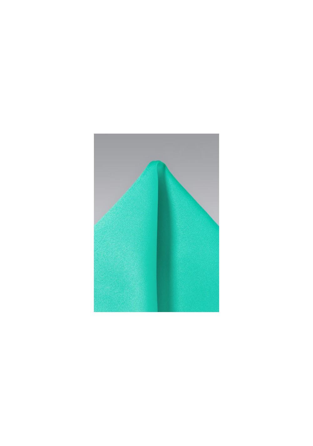 Jade Green Pocket Square