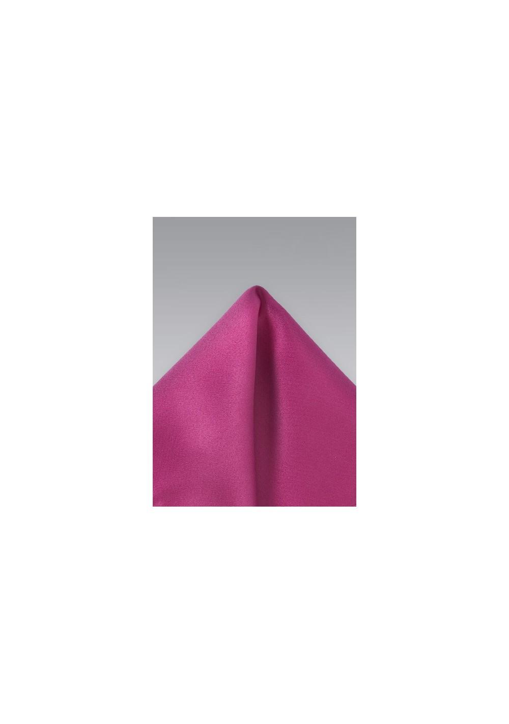 Magneta Pink Pocket Square