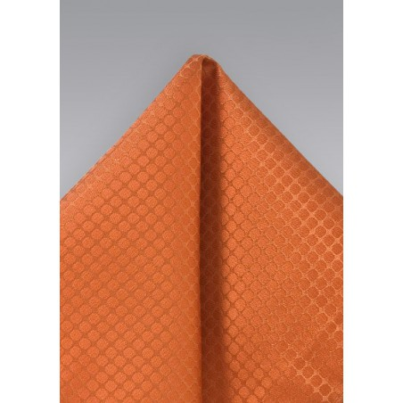 Trendy Orange Pocket Square