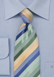 Striped Tie in Pastels