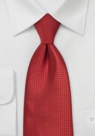 Ruby Red Mens Silk Tie