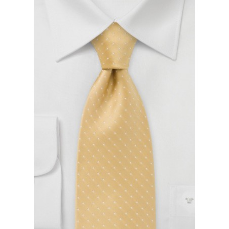 Polka Dot Tie in Dark Yellow