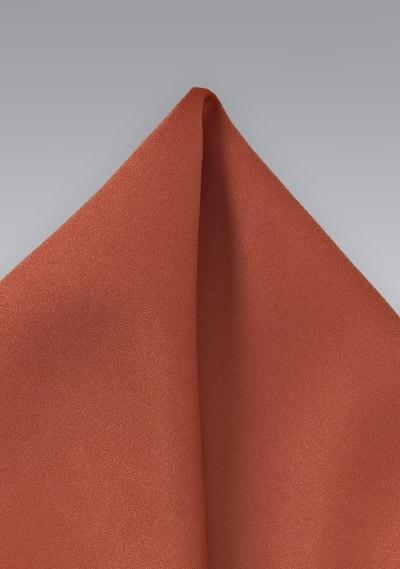 Dark Coral Red Pocket Square