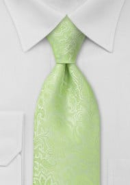 Mint Green Kids Paisley Tie