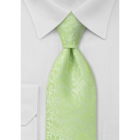 Mint Green Kids Paisley Tie