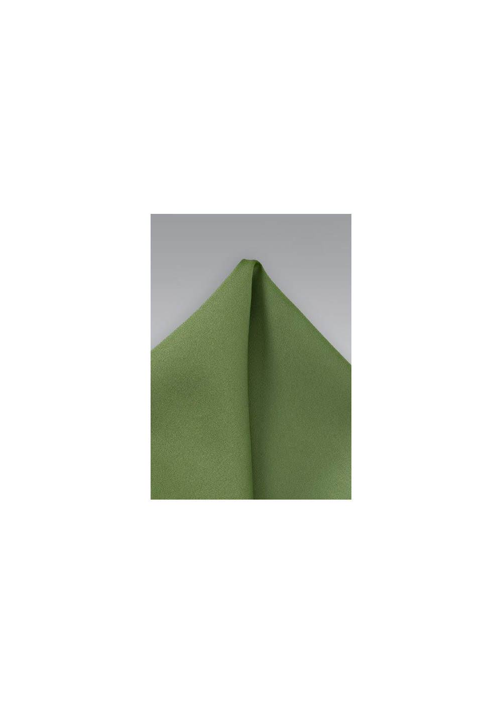 Solid Fern Green Pocket Square