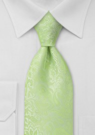 XL Mint Green Paisley Tie