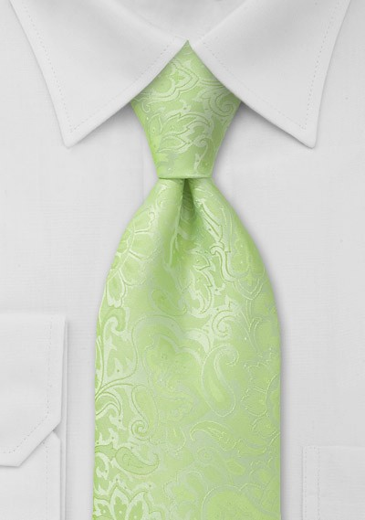 XL Mint Green Paisley Tie